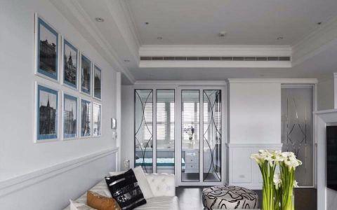 客厅推拉门新古典风格装修图片