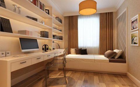书房榻榻米现代简约风格装潢设计图片