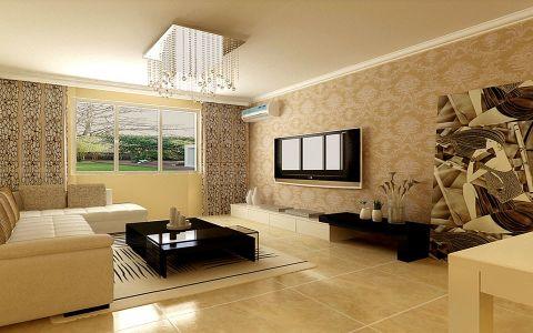 5.8万预算93平米两室两厅装修效果图