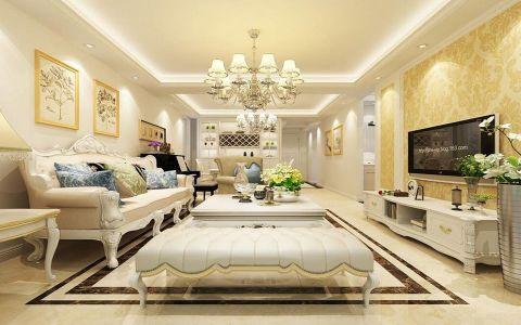 6.5万预算95平米两室两厅装修效果图