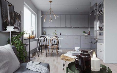 厨房背景墙北欧风格装饰图片