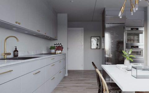 厨房走廊北欧风格装潢图片