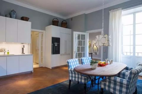 餐厅窗帘北欧风格装修设计图片
