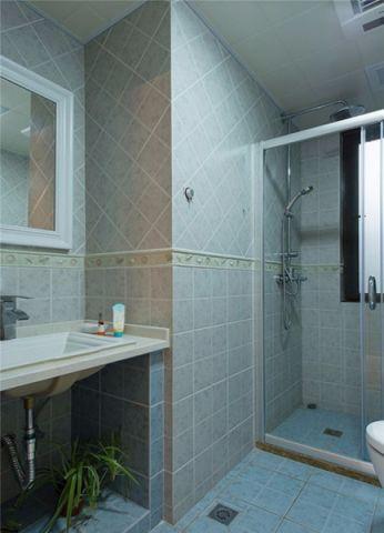 卫生间隔断美式风格装潢图片