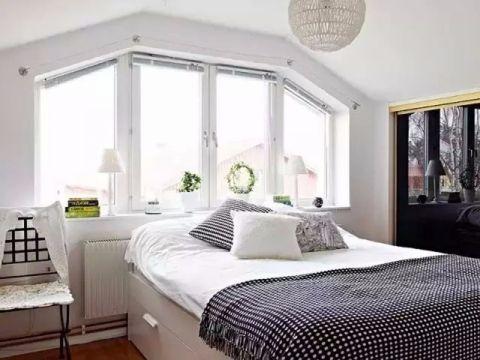 卧室窗台北欧风格装潢图片