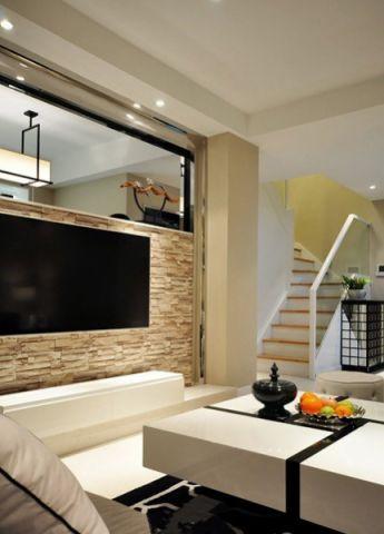 客厅楼梯现代简约风格装修图片
