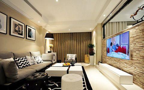 现代简约风格158平米复式室内装修效果图