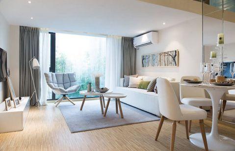 客厅窗帘现代简约风格装潢图片