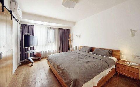 卧室窗帘北欧风格装修效果图