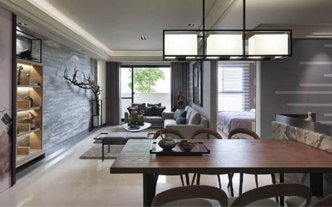 餐厅吊顶现代简约风格装饰设计图片