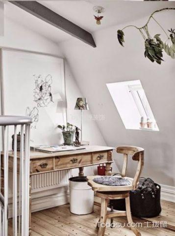 书房背景墙北欧风格效果图