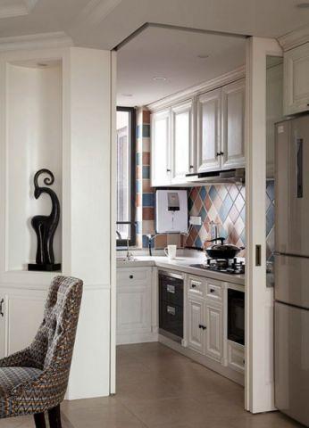 厨房门厅美式风格装修图片
