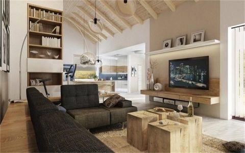 8.7万预算100平米三室两厅装修效果图