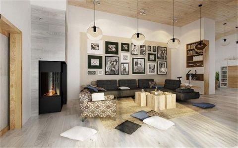 客厅照片墙简约风格装修设计图片