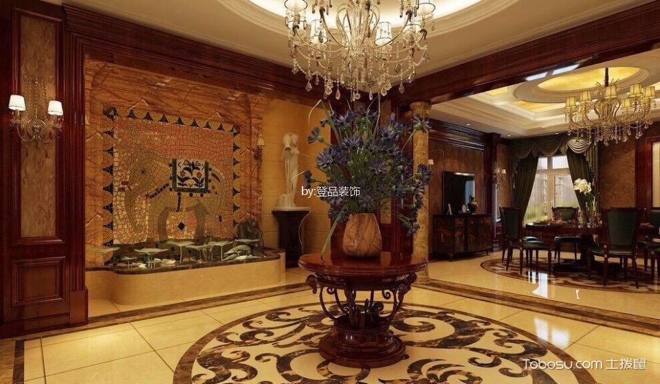 玄关彩色门厅美式风格效果图