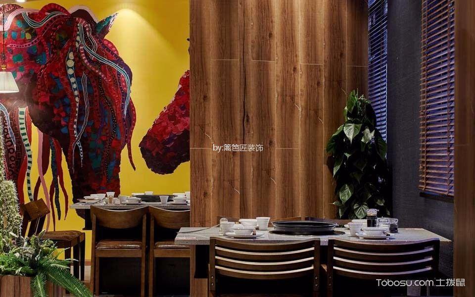 350平米火锅店餐桌设计图欣赏
