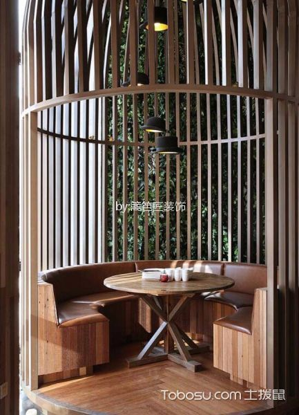 300平米餐厅小包房装潢图