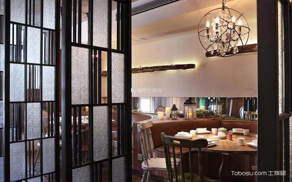 300平米餐厅餐桌设计效果图