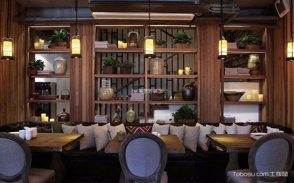 300平米餐厅私密约会处装修实景图
