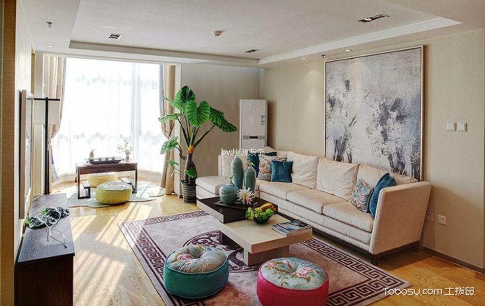 10.5万预算90平米两室两厅装修效果图