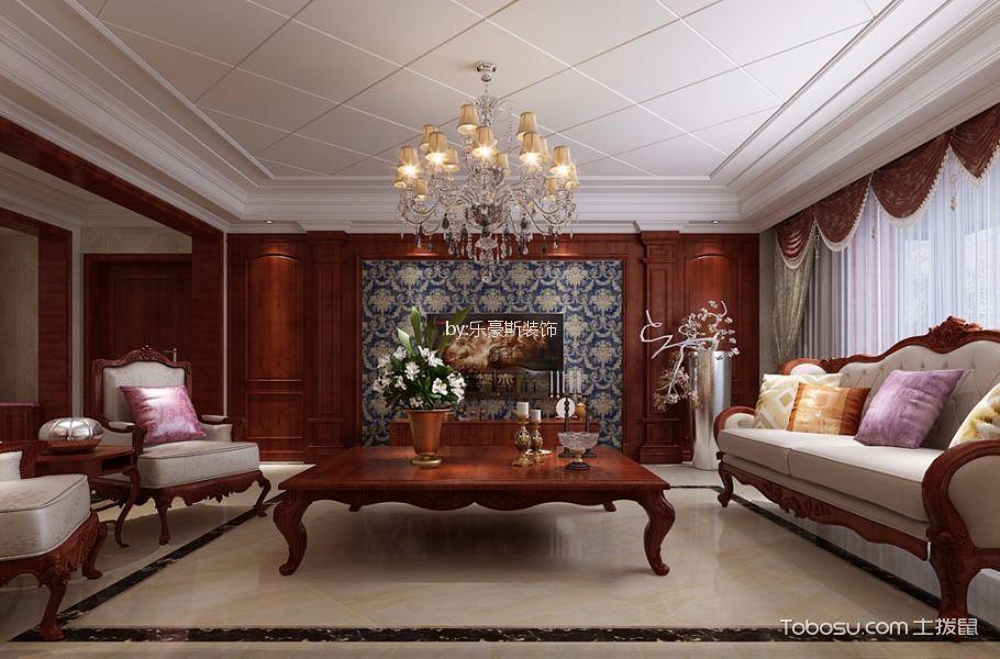 玉龙小区美式风格大户型装修样板房