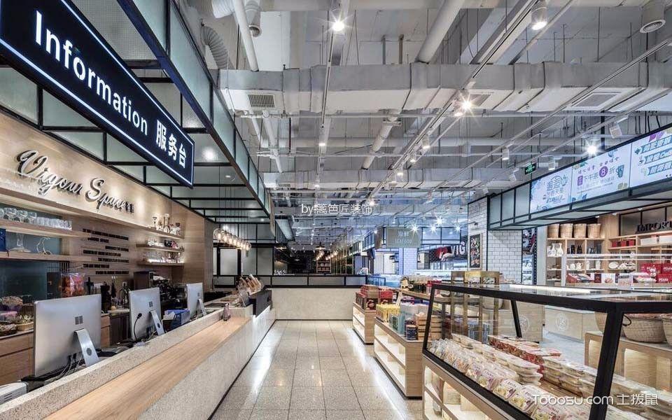 1200平米餐饮零售店走廊装潢设计图片