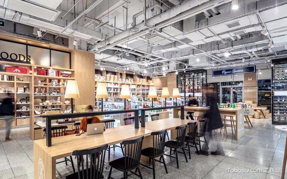 1200平米餐饮零售店读书区装饰设计图片