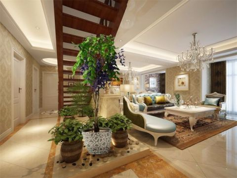 客厅走廊欧式风格装潢设计图片