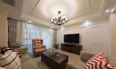 7.6万预算102平米三室两厅装修效果图