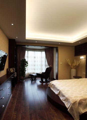 卧室窗帘简中风格装潢图片