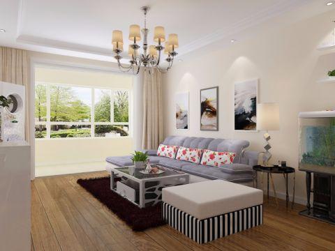 5万预算134平米三室两厅装修效果图