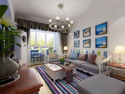 4万预算87平米两室两厅装修效果图