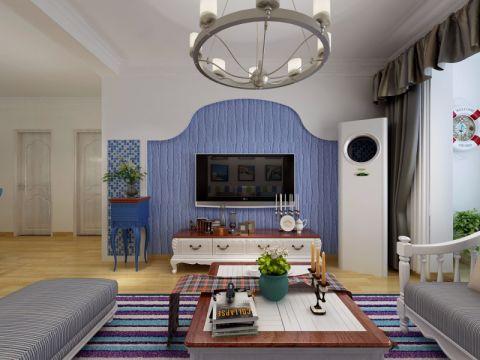 客厅电视柜地中海风格装潢图片