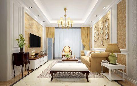 6.7万预算90平米两室两厅装修效果图
