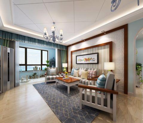 中海临安府120平三居室地中海风格装修效果图