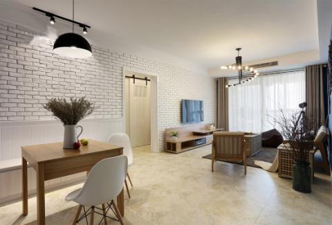 客厅走廊北欧风格装修效果图