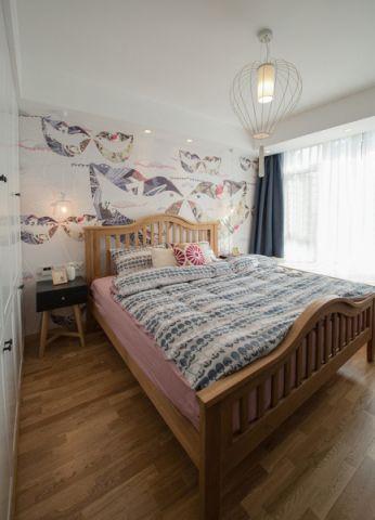 卧室窗帘日式风格装潢图片