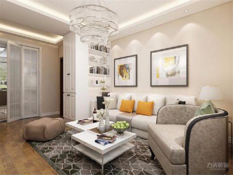 永和家园现代简约90平米三居室装修效果图