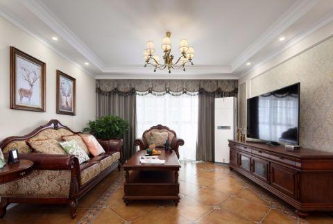 碧桂园银河城143平米美式三居室装修效果图