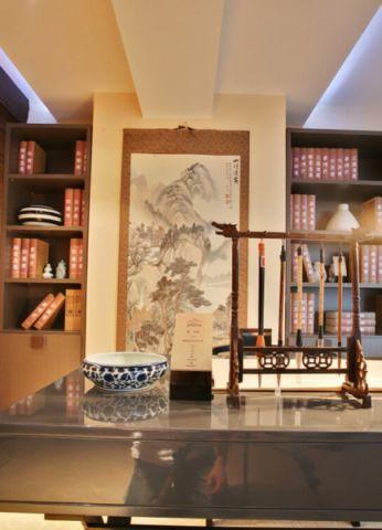 书房照片墙中式风格装饰图片