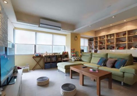 10万预算70平米两室两厅装修效果图