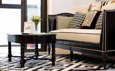 精致客厅美式装修实景图