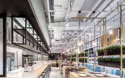 1200平米餐饮零售店装修效果图