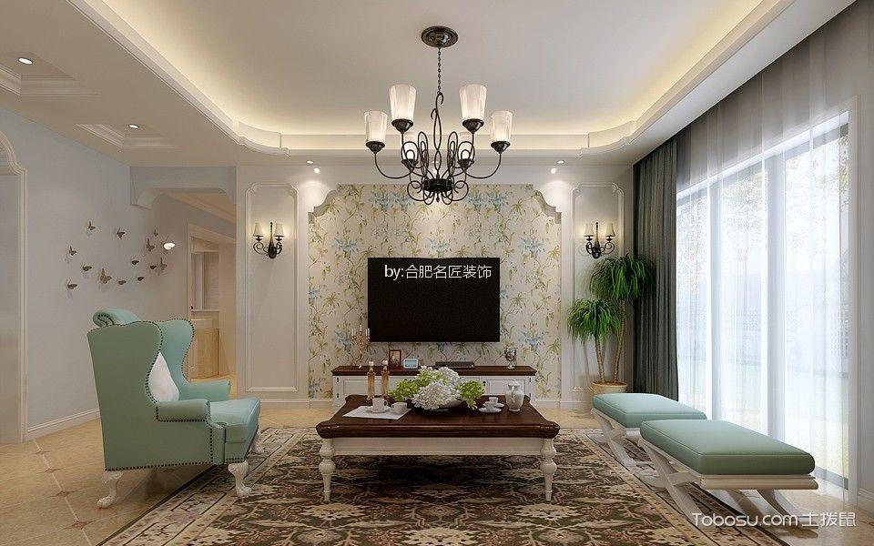5.8万预算150平米三室两厅装修效果图
