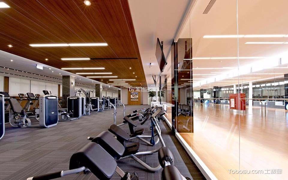 企业员工健身房器械区装饰设计图片