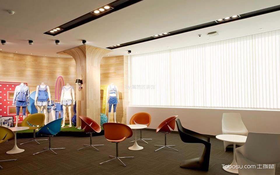 企业员工健身房休息区装饰设计图片