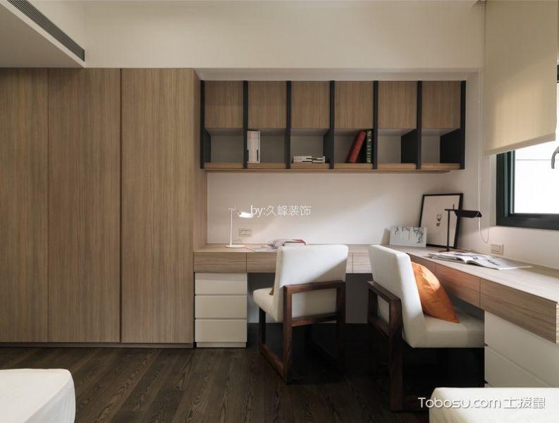 卧室米色书桌日式风格装饰效果图