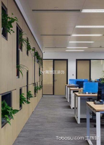 1000平写字楼办公区走廊装潢设计图片