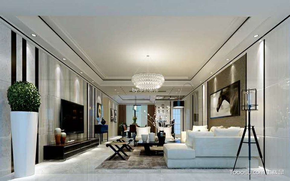 24万预算160平米三室两厅装修效果图