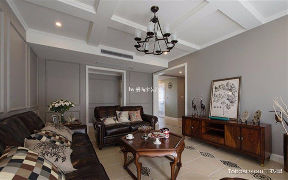 8万预算114平米两室两厅装修效果图